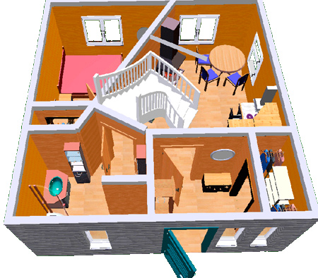 проект дома с лестницей
