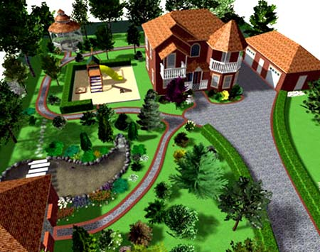 планировка двора дома