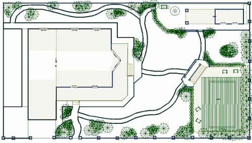 планировка двора