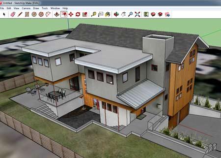 планировка дома Google SketchUp