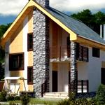 Проекты и строительство полутороэтажных домов