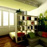 Зонирование пространства в комнате