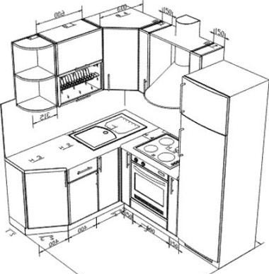 Как самому сделать чертежи кухни 213