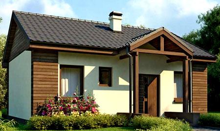 маленький каркасный дом