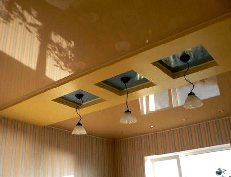 кухня  натяжной потолок