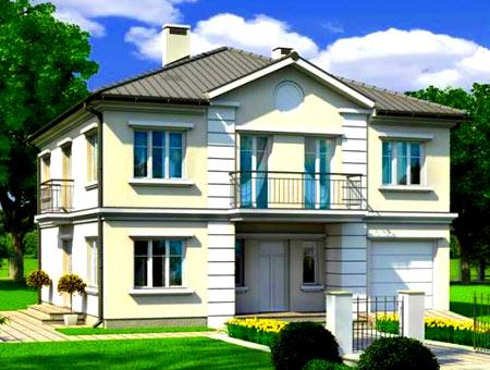 двухэтажный дом 11х12