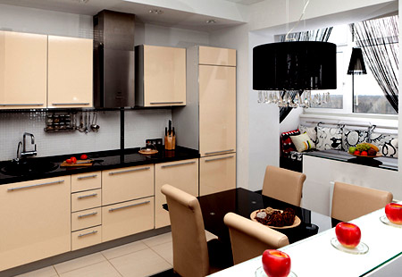 кухня с лоджией