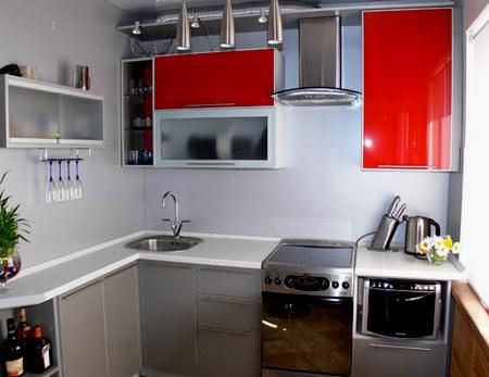 стильная кухня 6 метров
