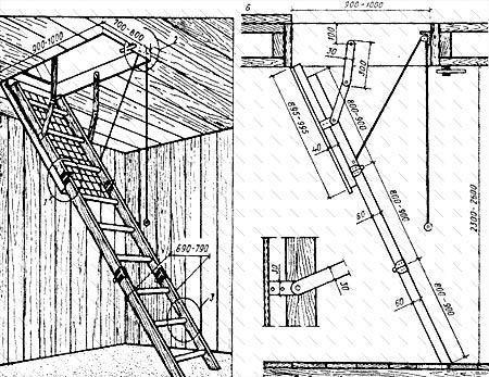откидная лестница