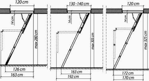 схема складной лестницы