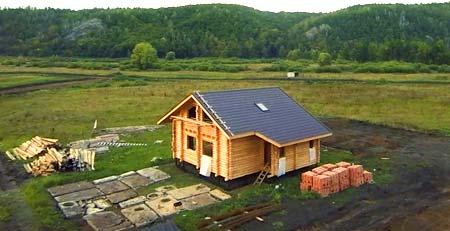 территория участка с домом