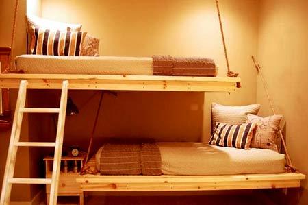 мансарда подвесные кровати