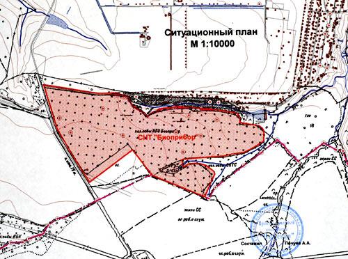 план размещения участка