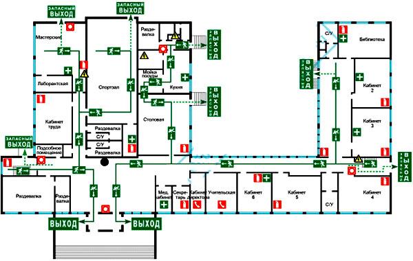 планировка школы