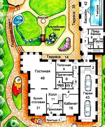 планировка участка дома