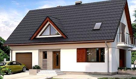 дом с гаражом 6х8