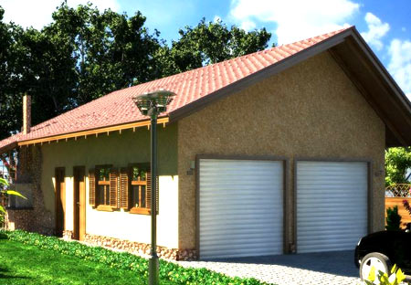 кирпичный гараж с баней