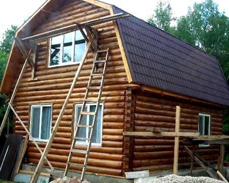 дом из бревен  6х8