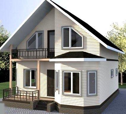 дом веранда эркер