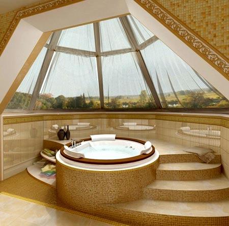 ванная комната эркер