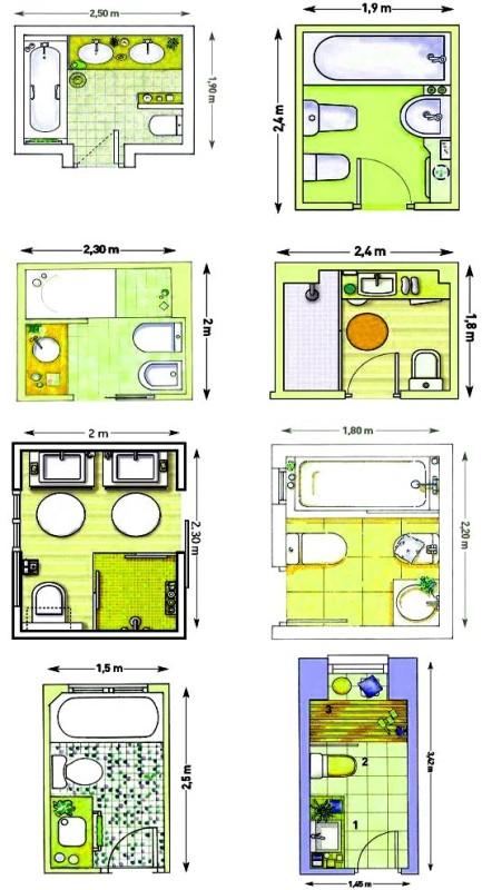 планировки ванной 4 метра