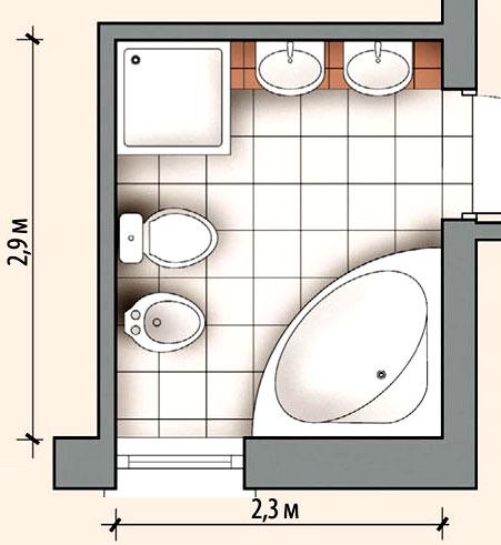 ванная комната план