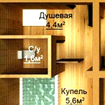 Проекты бани с туалетом и душем