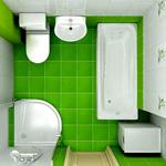 Варианты планировки ванной комнаты