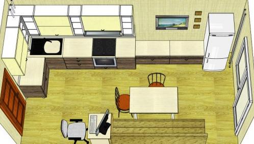 кухня 15 метров
