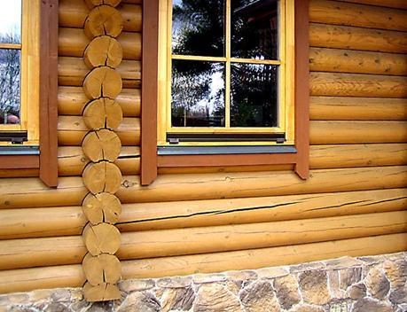 дом из бруса трещины