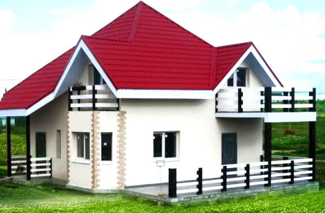 двухэтажный дом дача