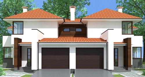дом с гаражом 2 семьи