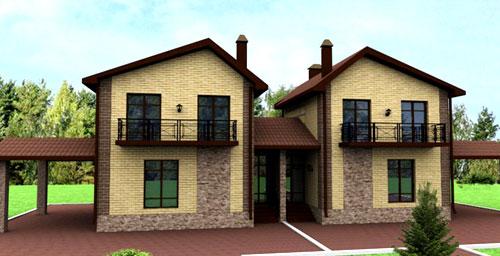 Projekty rodinných domov s dvoma vchodmi