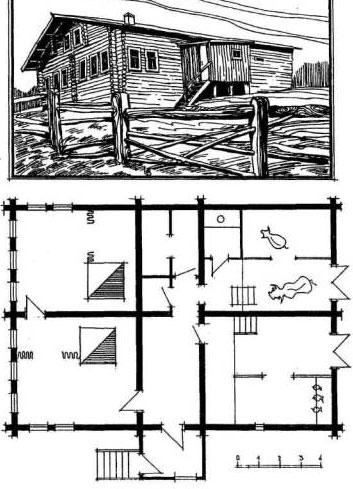 классический проект старинного дома