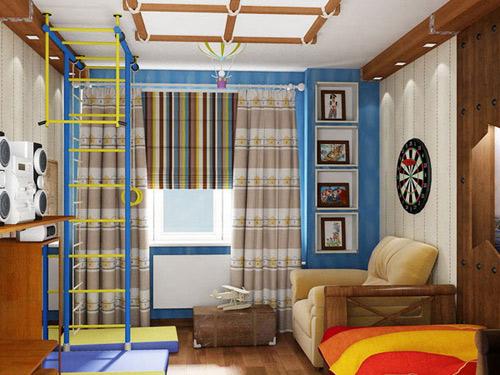 зонирование комнаты для  мальчика