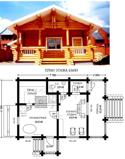 дом из бруса 6 на 8