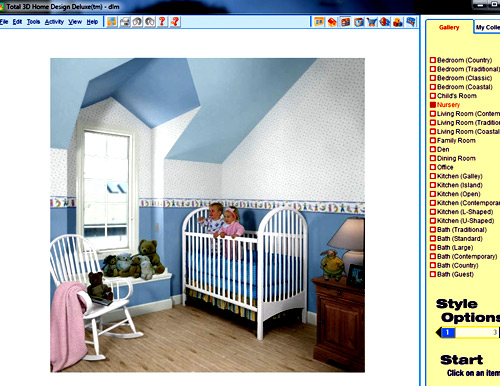 Total 3D Home  интерфейс