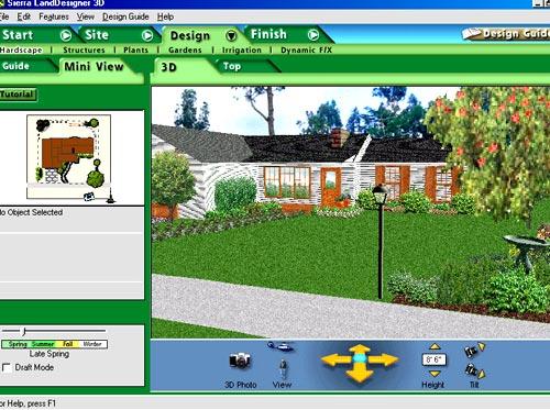 интерфейс Sierra Land Designer 3D
