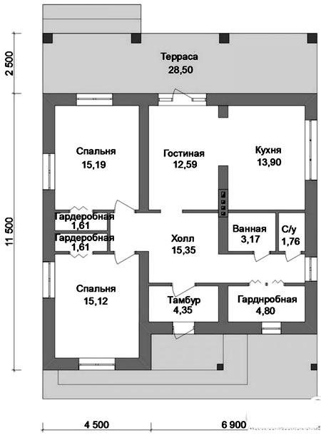 дом две спальни