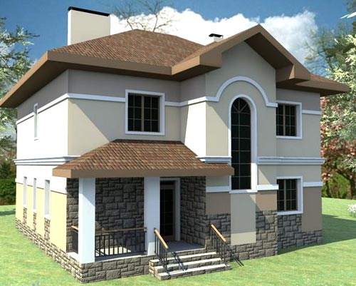 двухэтажный дом 4 спальни