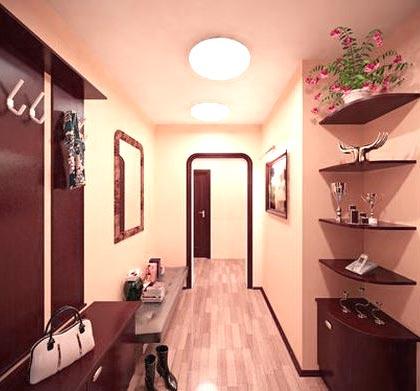 планировка коридора