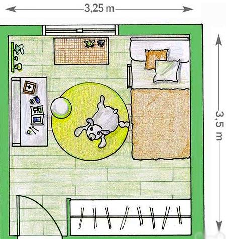детская комната планировка