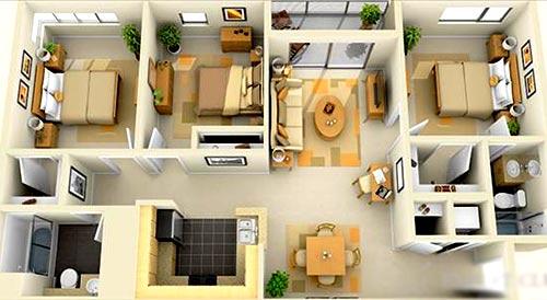 коттедж 3 спальни