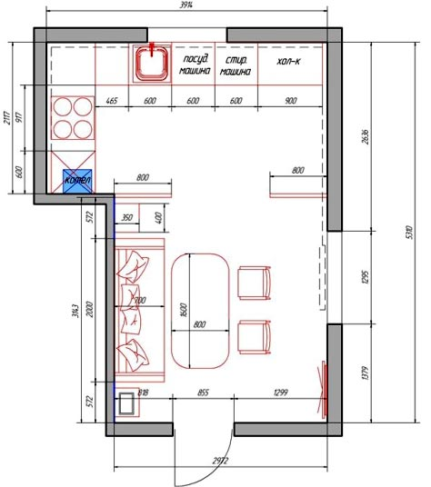план расстановка мебели
