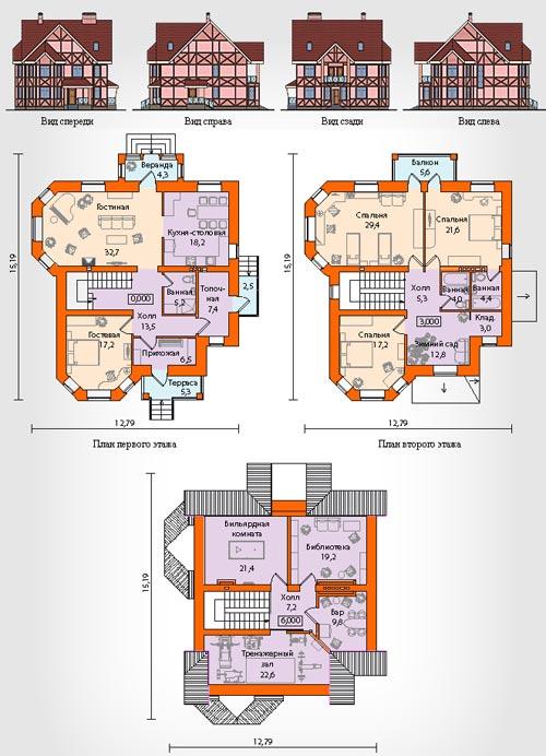 три этажа 8 спален