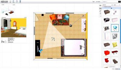 интрефейс My deco 3D room planner