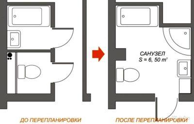 план туалета