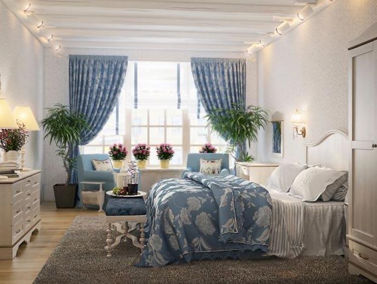 спальня стиль романтик