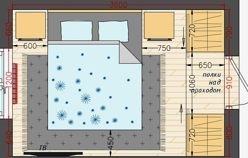 план комнаты 15 метров