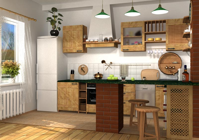 дизайне кухни